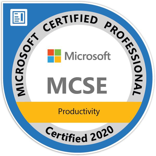 MCSE Productivity Certified 2020